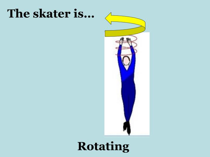 The skater is…