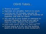 oshs tidbits