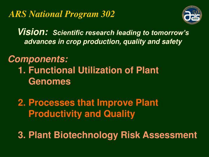 ARS National Program 302