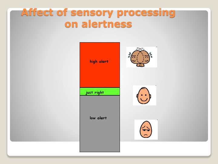 Affect of sensory processing on alertness