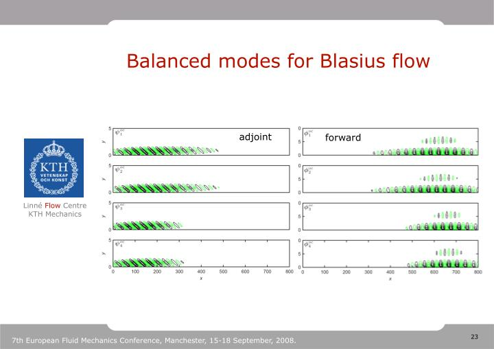 Balanced modes for Blasius flow