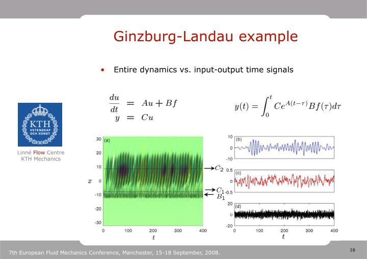 Ginzburg-Landau example