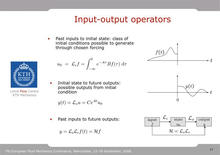 Input-output operators