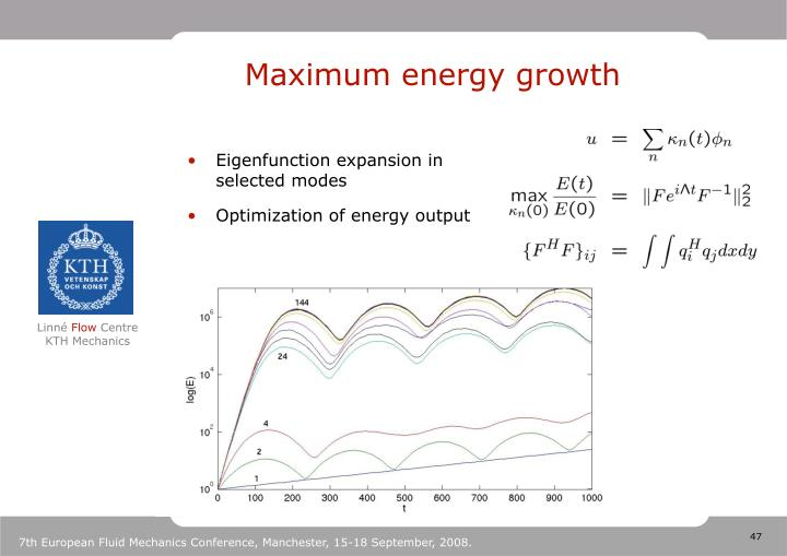 Maximum energy growth