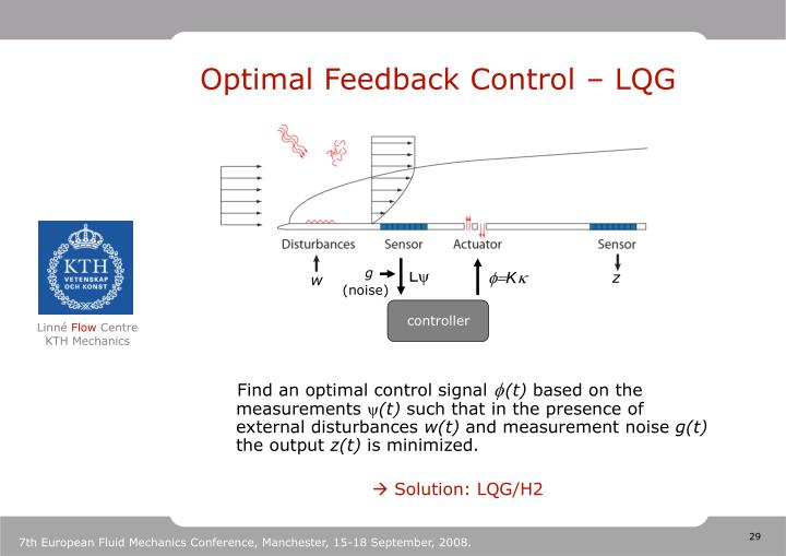 Optimal Feedback Control – LQG