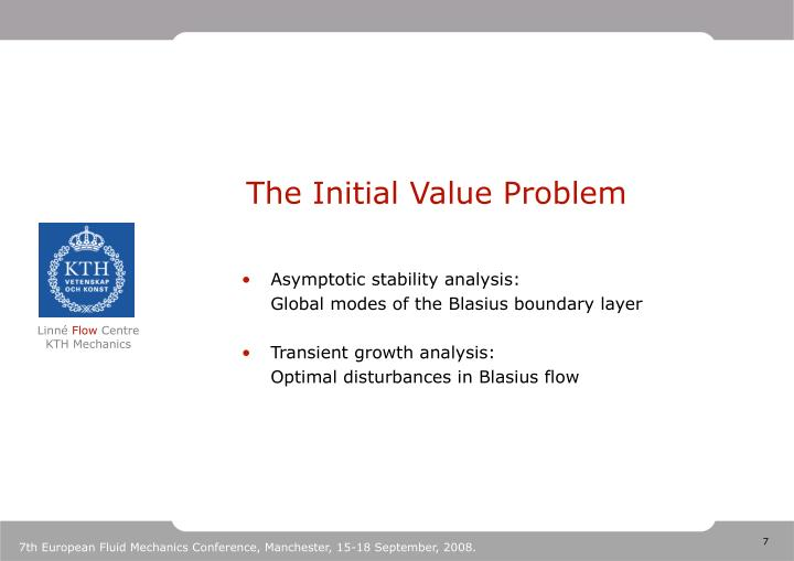 The Initial Value Problem
