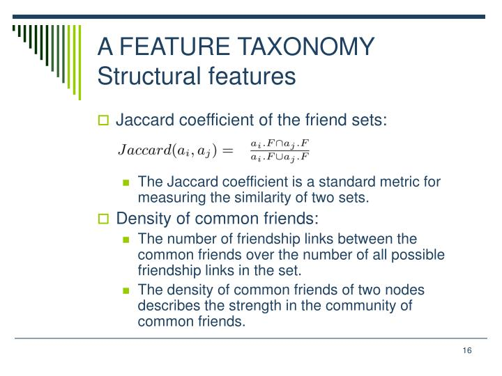 A FEATURE TAXONOMY