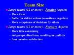 team size1