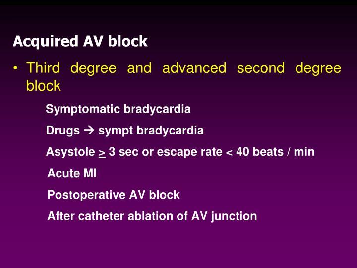 Acquired AV block