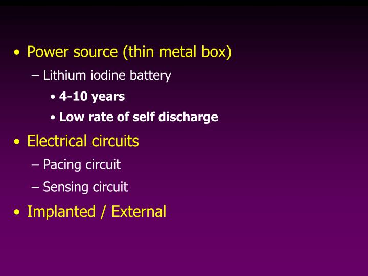 Power source (thin metal box)