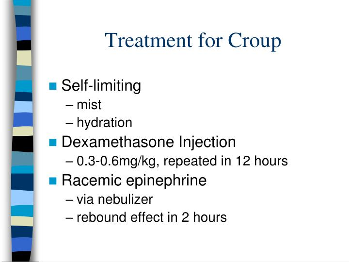 Treatment for Croup