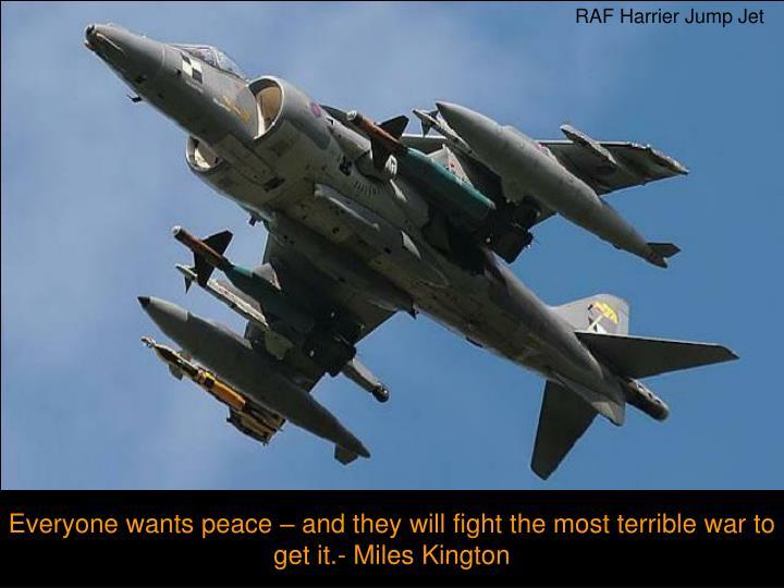 RAF Harrier Jump Jet