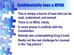confidentiality laws hipaa