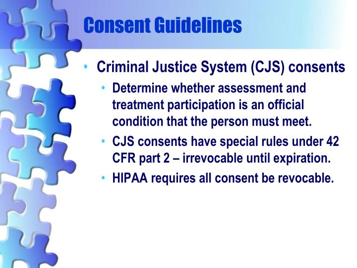 Consent Guidelines