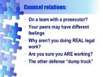 counsel relations