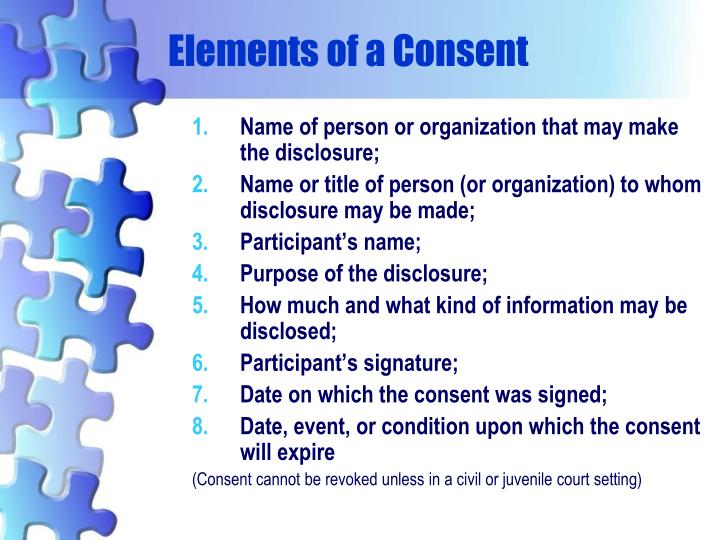 Elements of a Consent