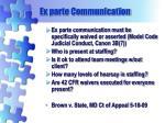 ex parte communication