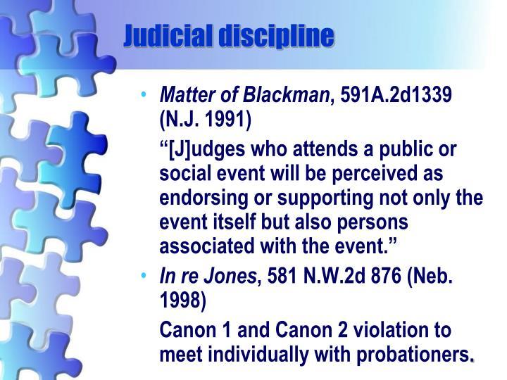 Judicial discipline