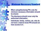minimum necessary standard