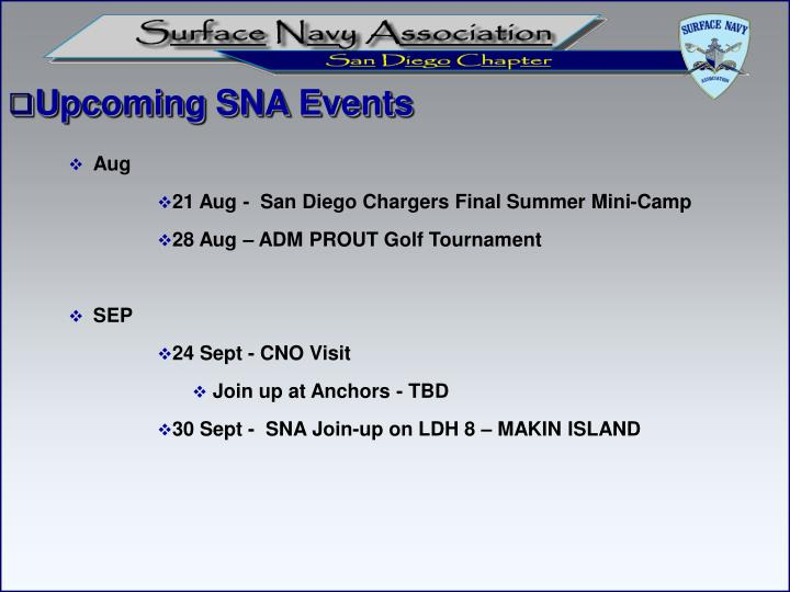 Upcoming SNA Events