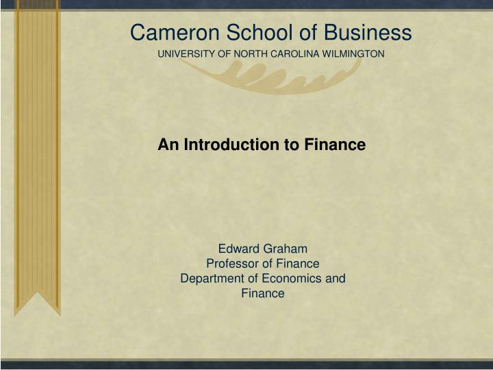 Cameron school of business university of north carolina wilmington