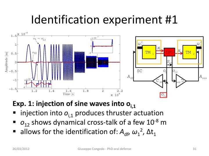 Identification experiment #1