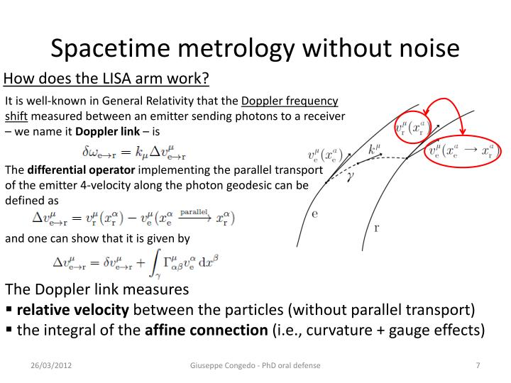 Spacetime metrology without noise