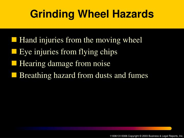 Grinding Wheel Hazards