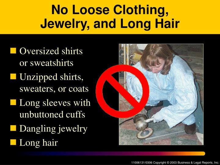 No Loose Clothing,