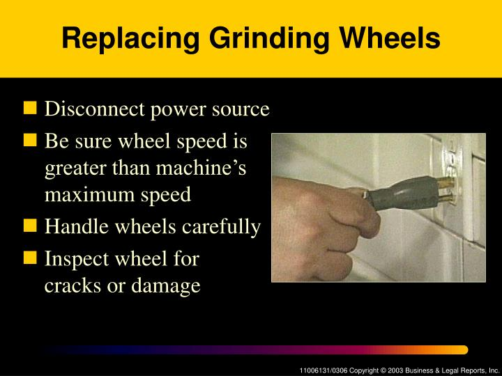 Replacing Grinding Wheels