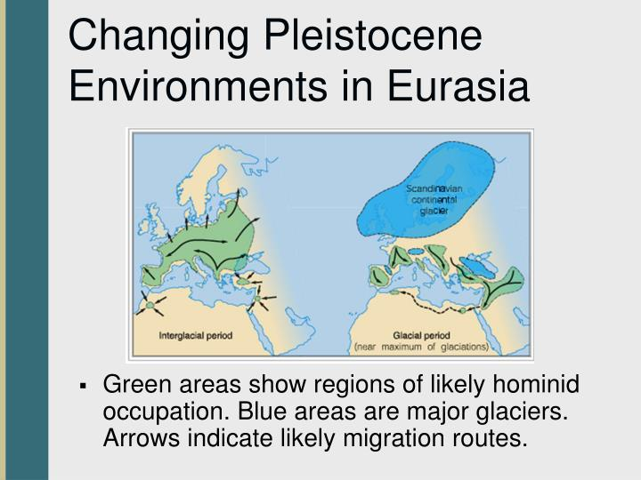Changing Pleistocene Environments in Eurasia