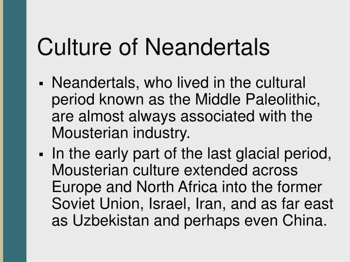 Culture of Neandertals