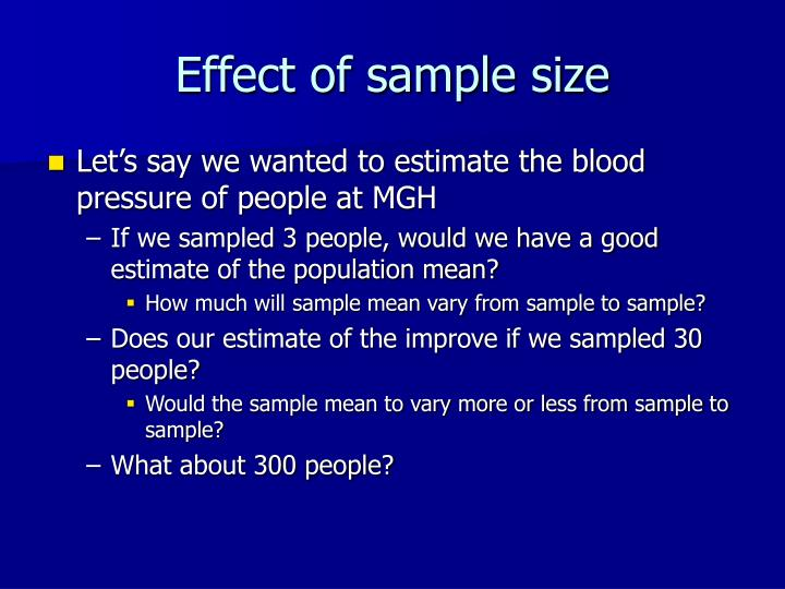 Effect of sample size