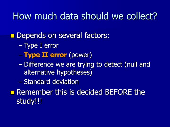 How much data should we collect?