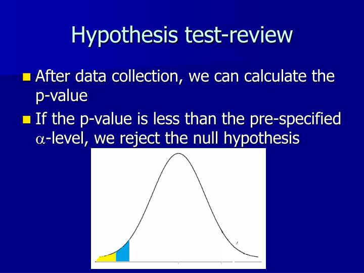 Hypothesis test-review