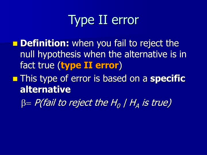 Type II error