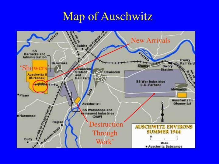 Map of Auschwitz
