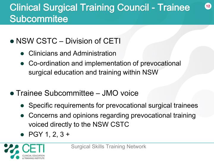 Clinical Surgical Training Council - Trainee