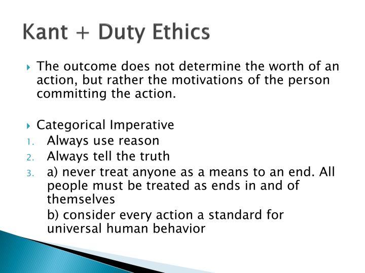 Kant + Duty Ethics