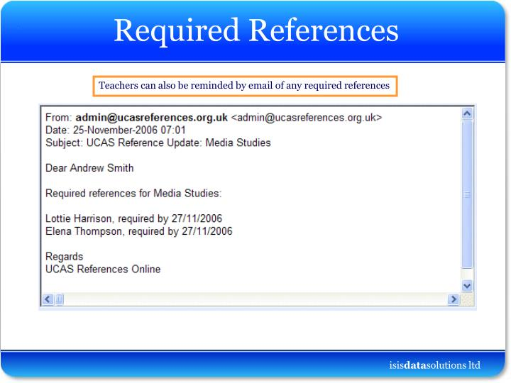 Required references1