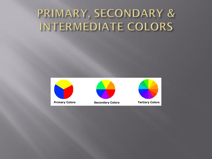 PRIMARY, SECONDARY & INTERMEDIATE COLORS