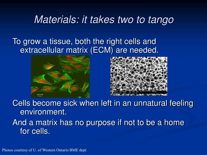 Materials it takes two to tango