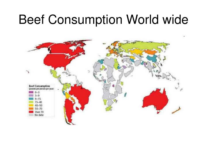 Beef Consumption World wide