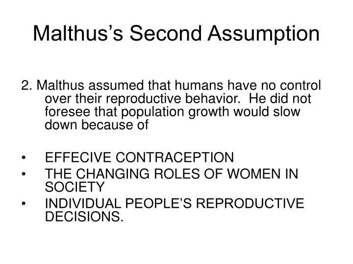 Malthus's Second Assumption