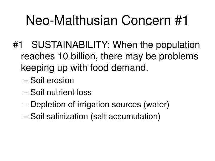 Neo-Malthusian Concern #1