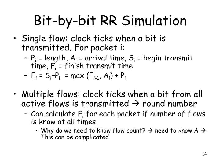 Bit-by-bit RR Simulation