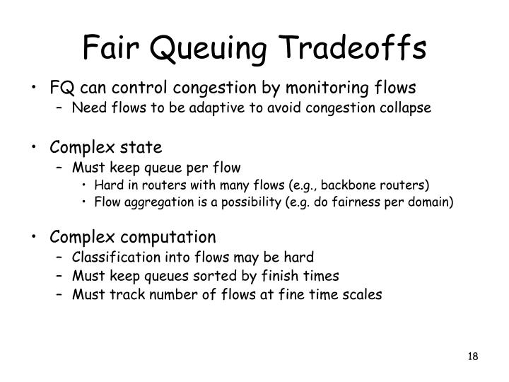 Fair Queuing Tradeoffs