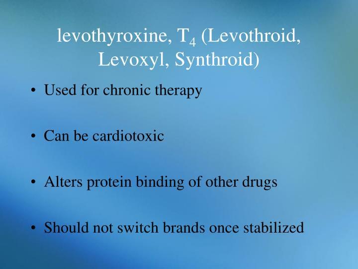 levothyroxine, T