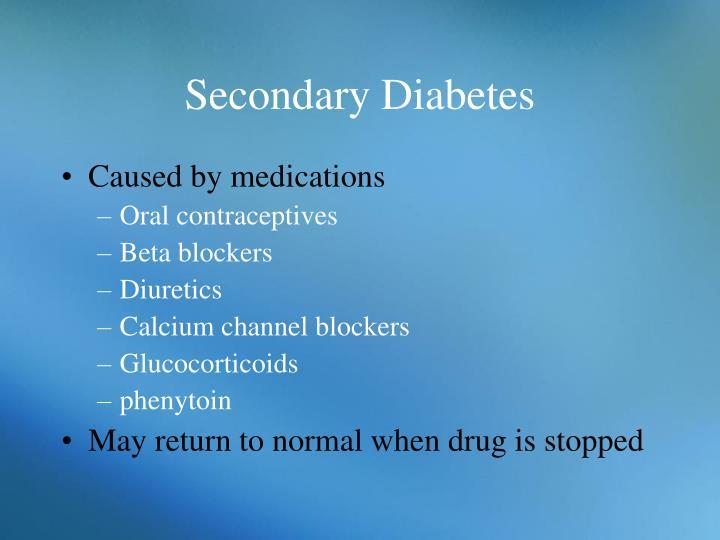Secondary Diabetes