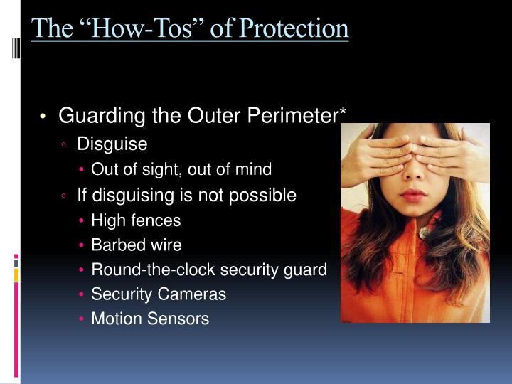 "The ""How-Tos"" of Protection"